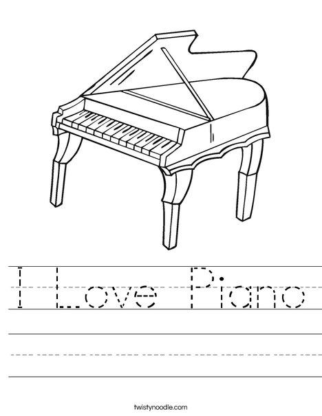 Grand Piano Worksheet