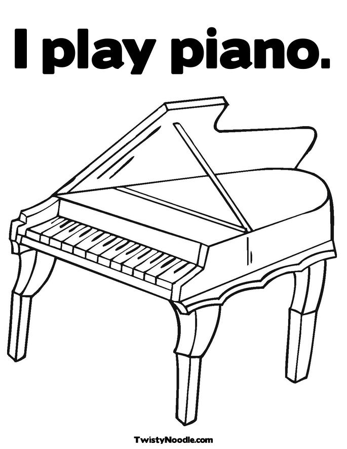Piano Coloring Pages Keyboard Free Colouring