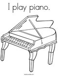 I play piano.Coloring Page