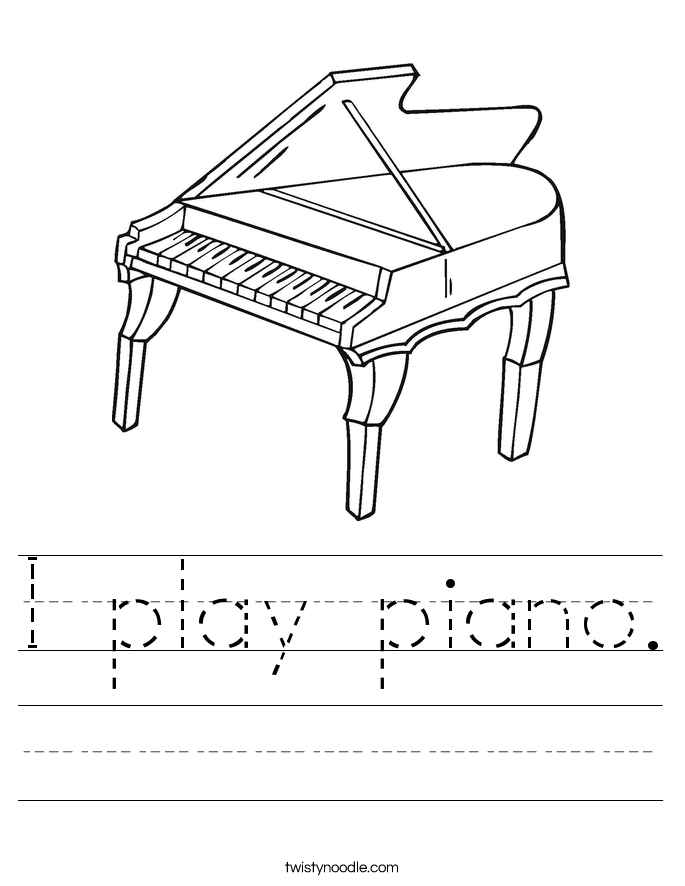 I play piano. Worksheet