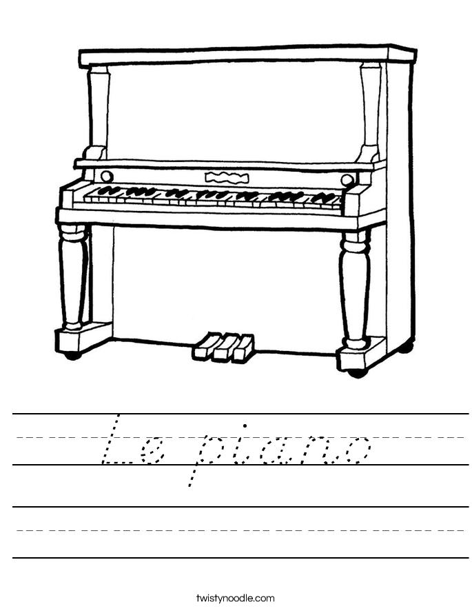 Le piano Worksheet