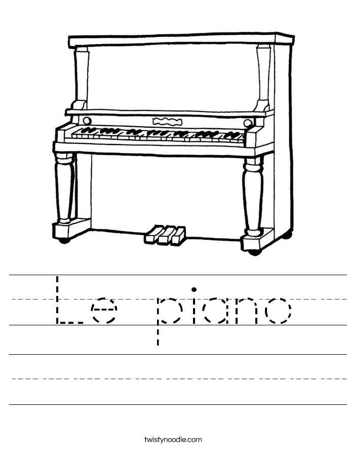 Le piano Worksheet