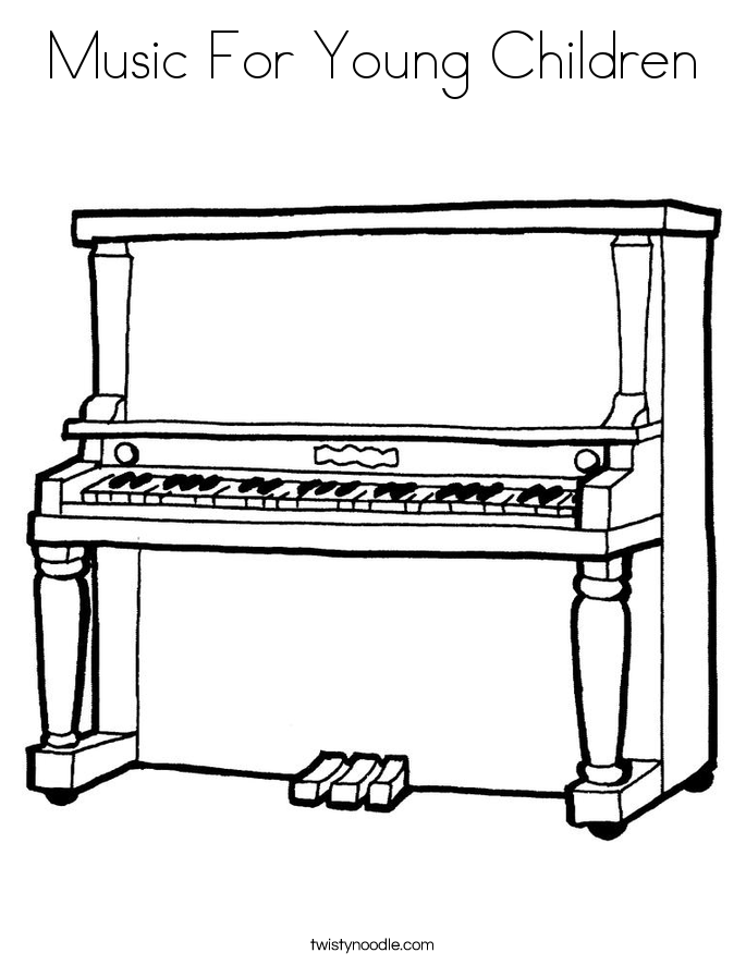Music For Young Children Coloring Page