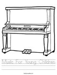 Music For Young Children Worksheet