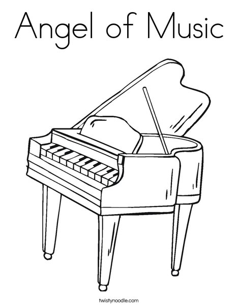 Angel Of Music Coloring Page Twisty Noodle