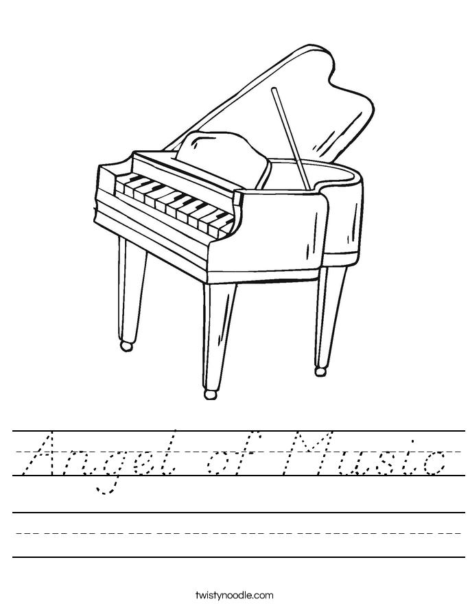 Angel of Music Worksheet