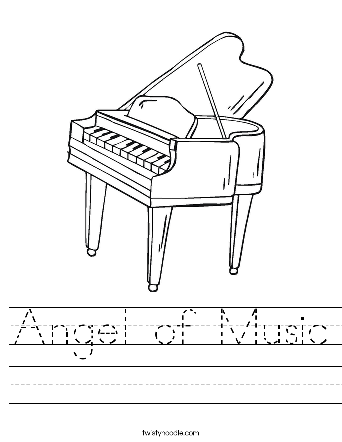 Angel of Music Worksheet