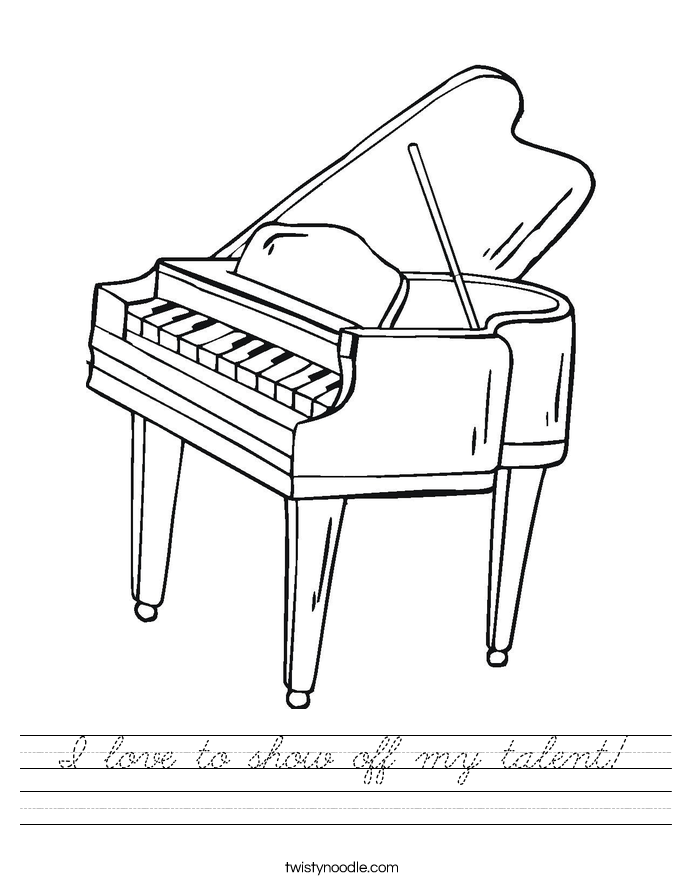 I love to show off my talent! Worksheet