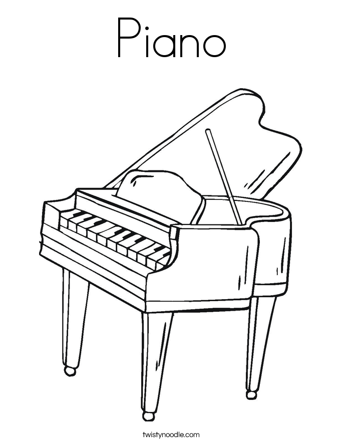 Piano Coloring Pages Print