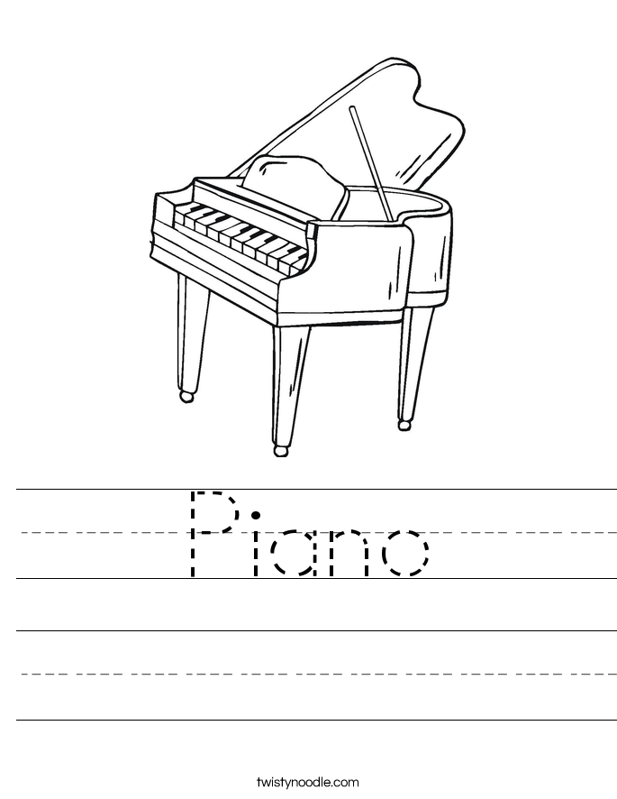 Piano Worksheet