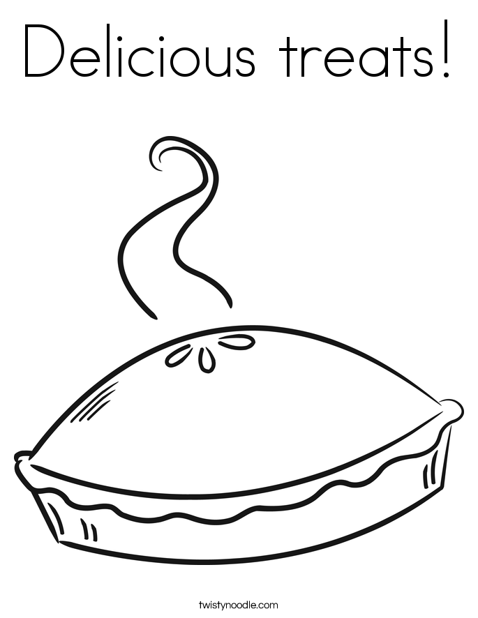 Delicious treats! Coloring Page