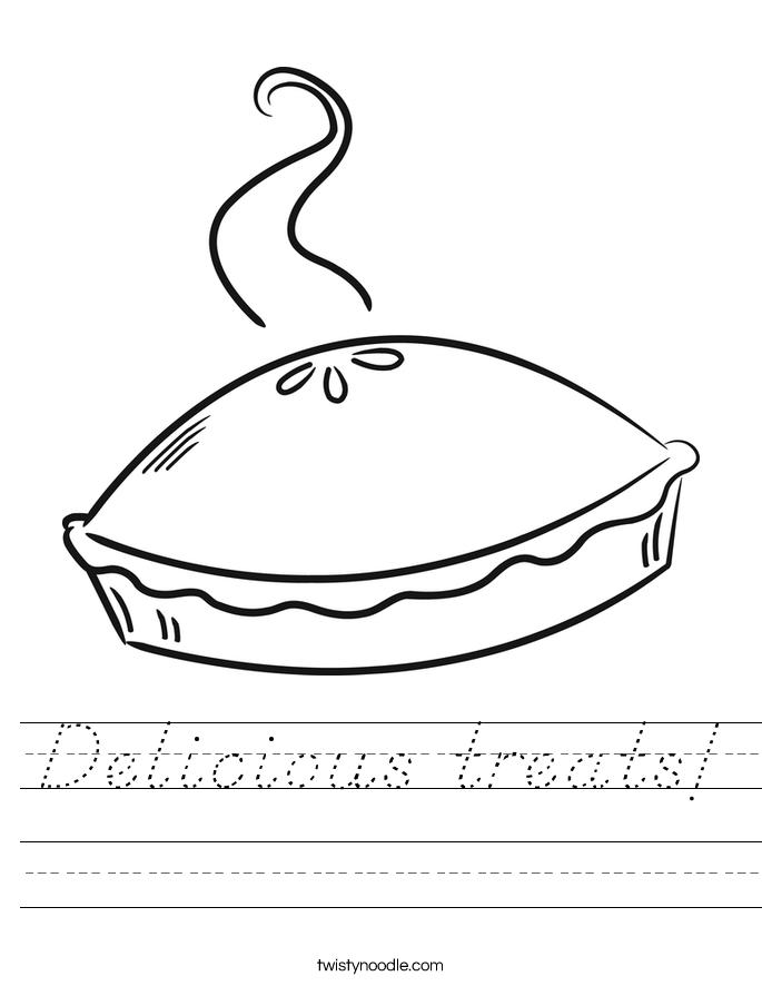 Delicious treats! Worksheet