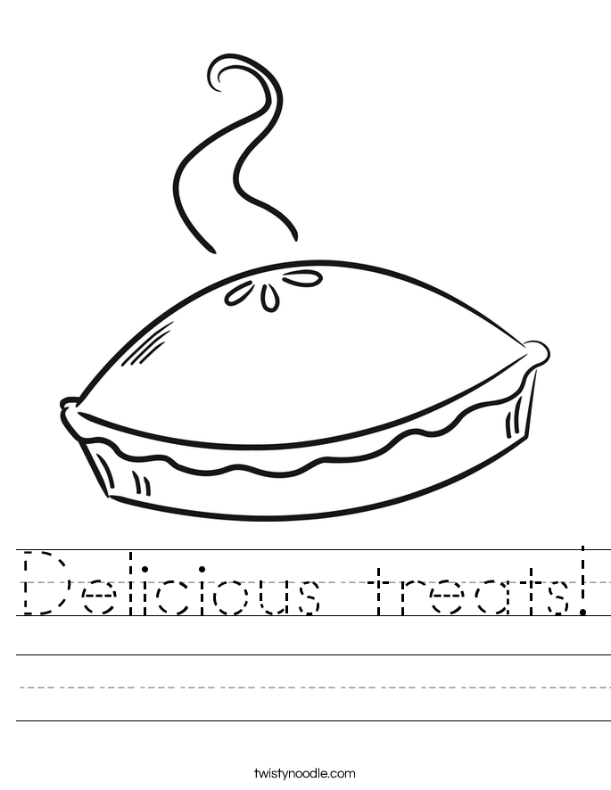 Delicious treats! Worksheet