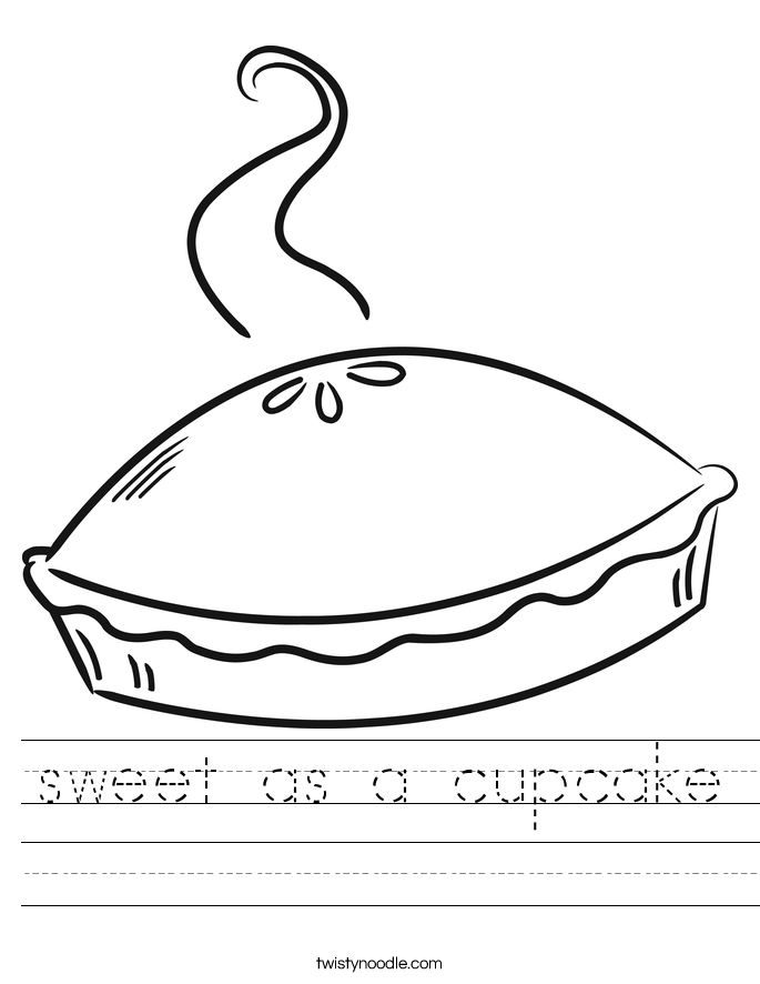 sweet as a cupcake Worksheet