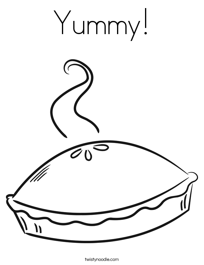 Yummy! Coloring Page