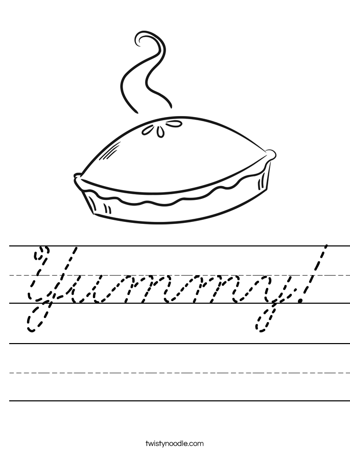 Yummy! Worksheet