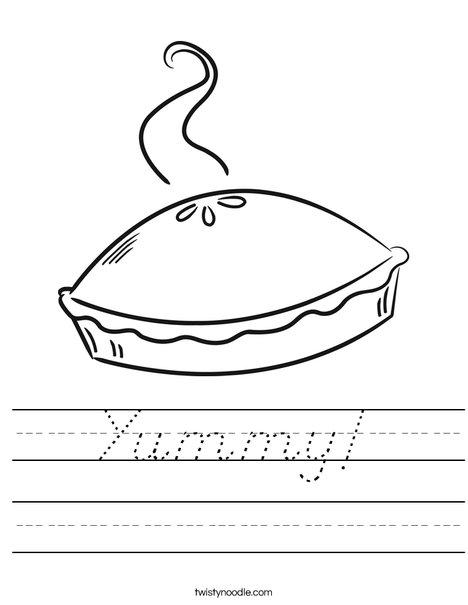 Pie Worksheet