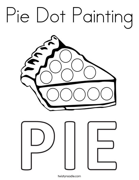 Pie Dot Painting Coloring Page