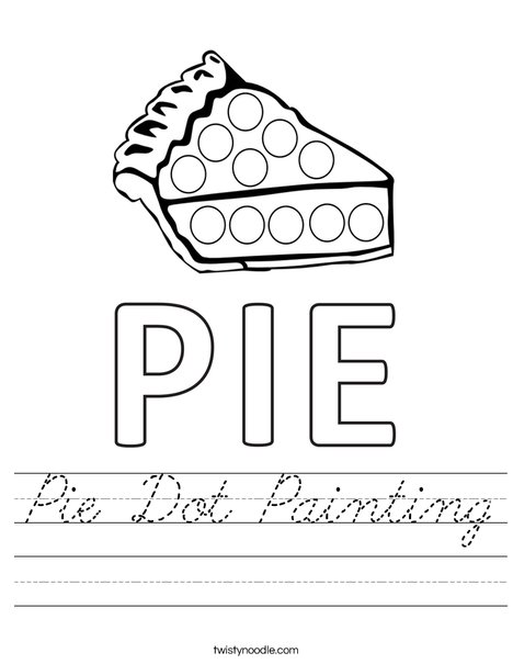 Pie Dot Painting Worksheet