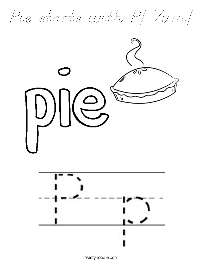 p is for pie