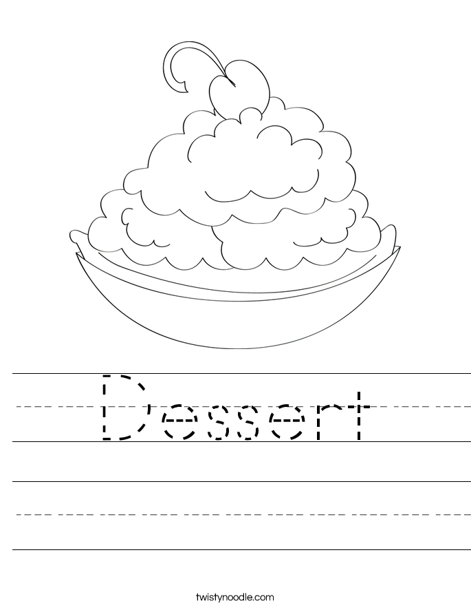 Dessert Worksheet
