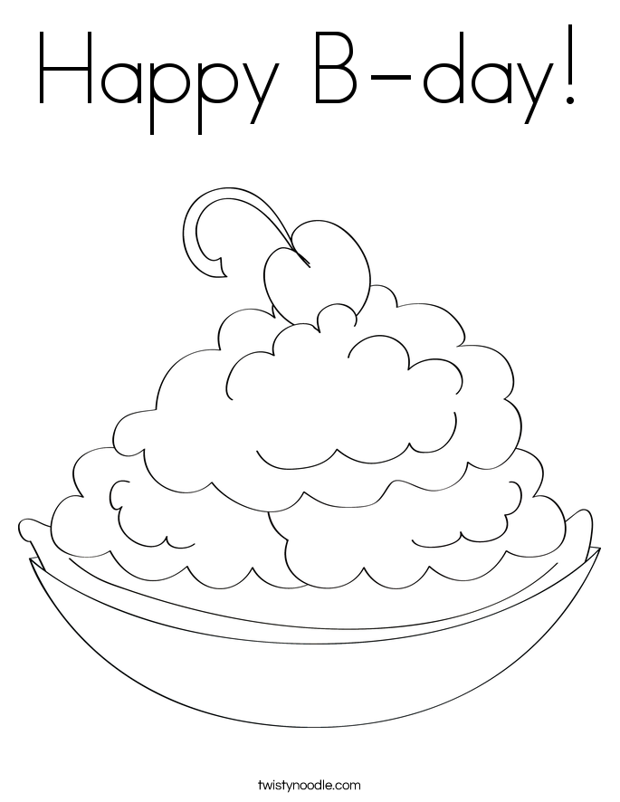 Happy B-day! Coloring Page