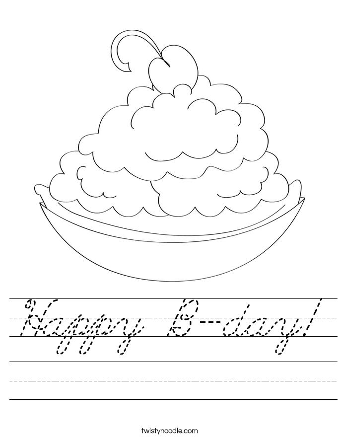 Happy B-day! Worksheet