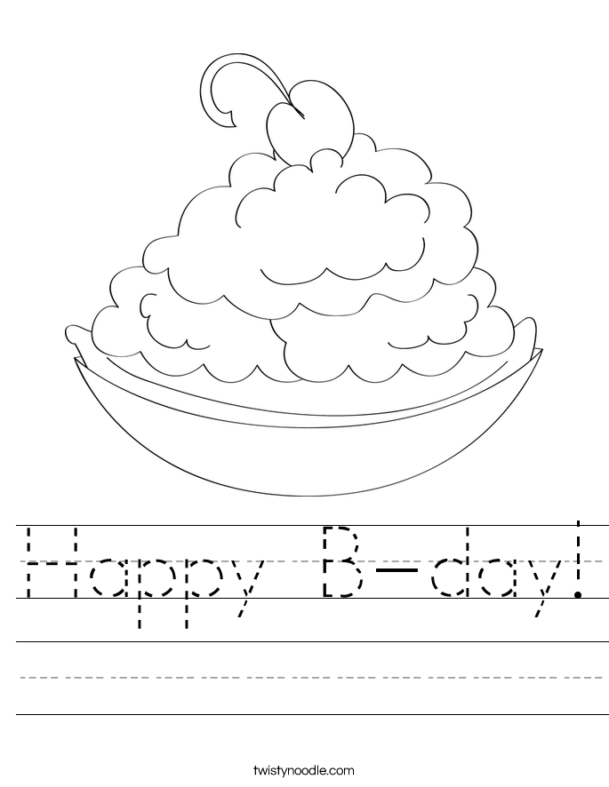 Happy B-day! Worksheet