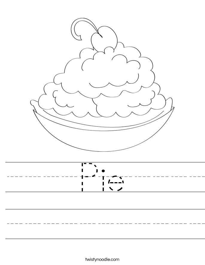 Pie Worksheet