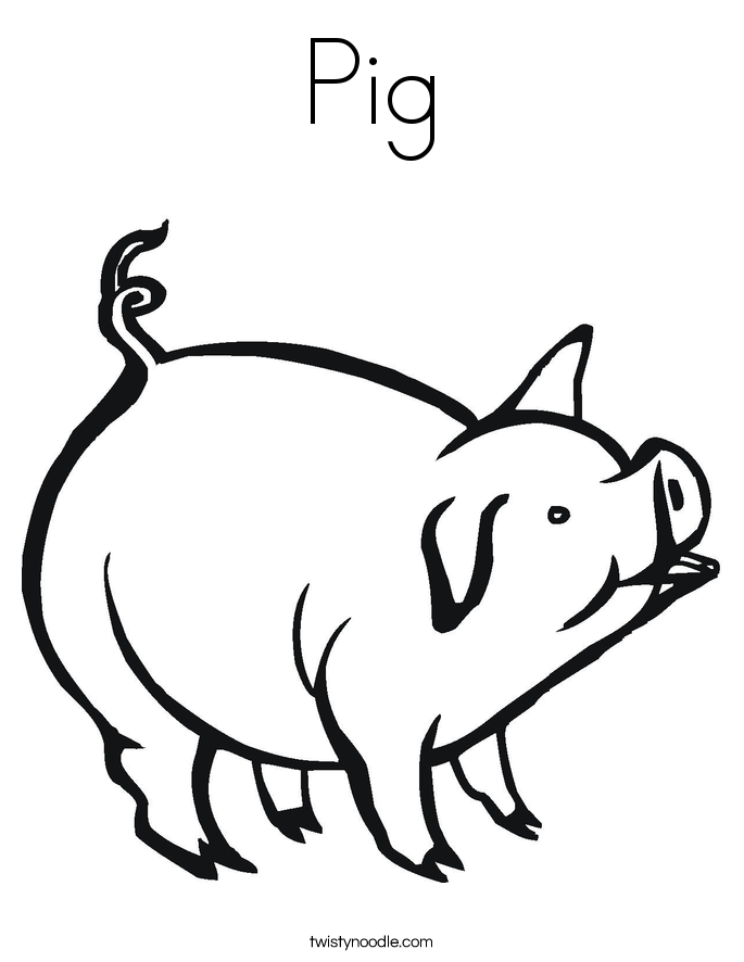 Universal image in printable pig coloring pages