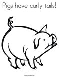 Pigs have curly tails! Coloring Page