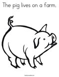 The pig lives on a farm. Coloring Page