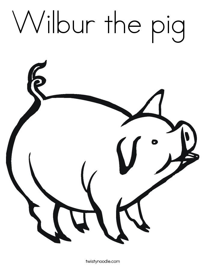 Wilbur the pig Coloring Page  Twisty Noodle