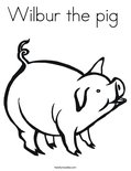 Wilbur the pig  Coloring Page