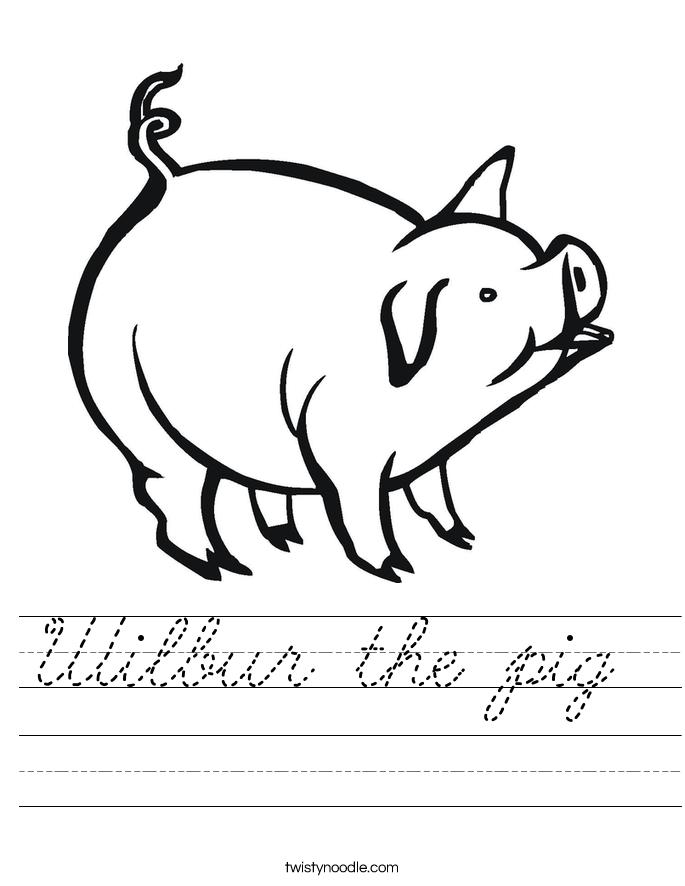 Wilbur the pig  Worksheet