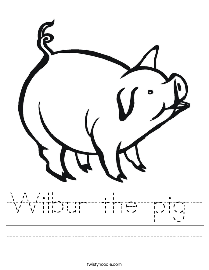 Wilbur the pig  Worksheet