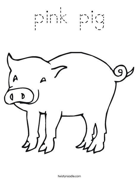 Pig with Curly Tail Coloring Page