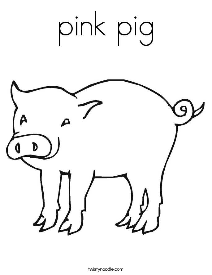 Pig Coloring Pages Twisty Noodle
