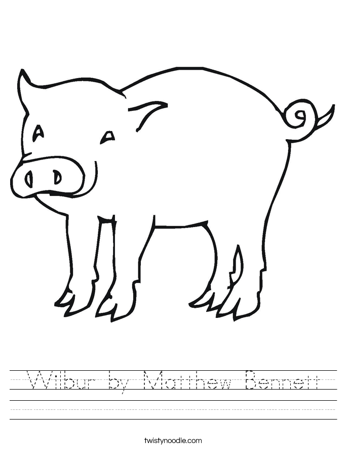 Wilbur by Matthew Bennett Worksheet