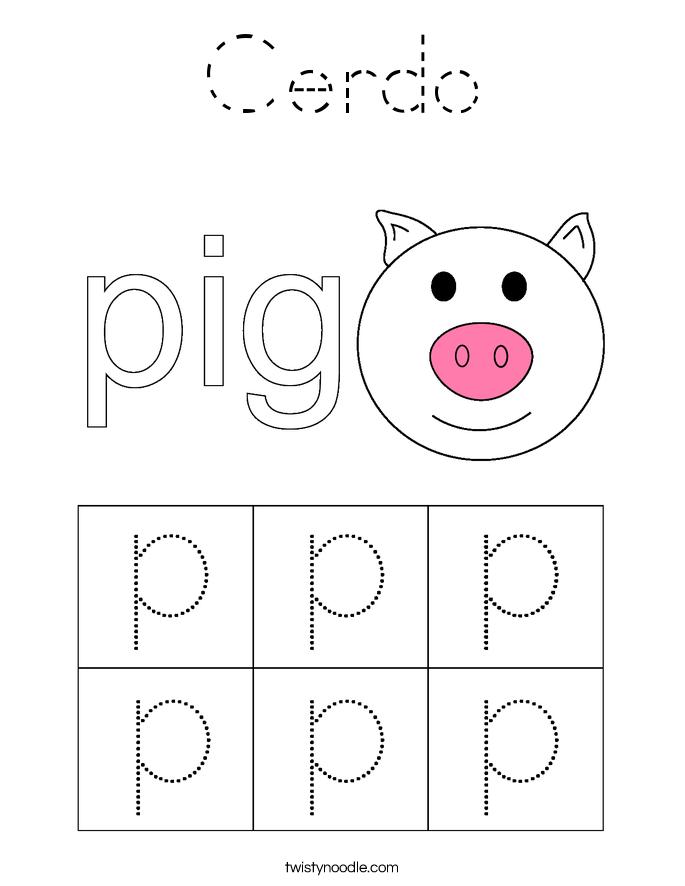 Cerdo Coloring Page