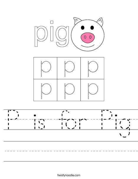 Happy Pig Worksheet