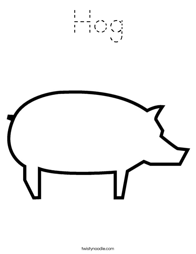 Hog Coloring Page