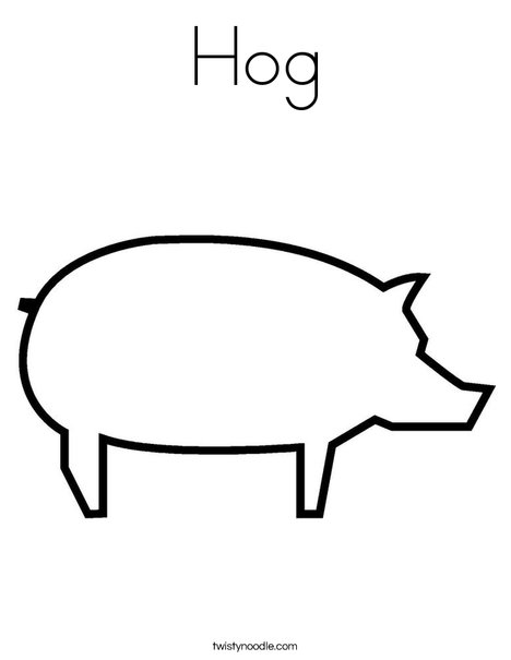 Blank Pig Coloring Page