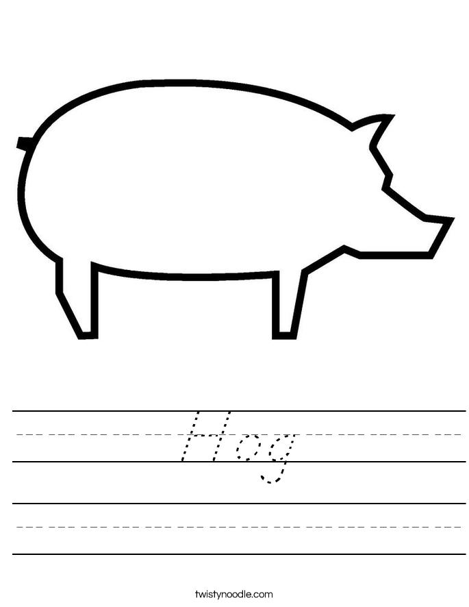 Hog Worksheet
