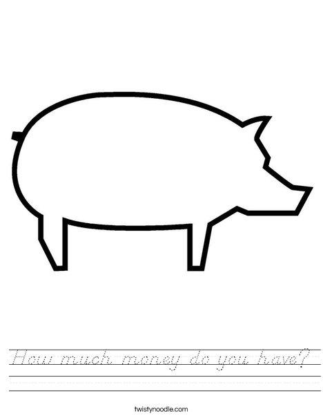 Blank Pig Worksheet