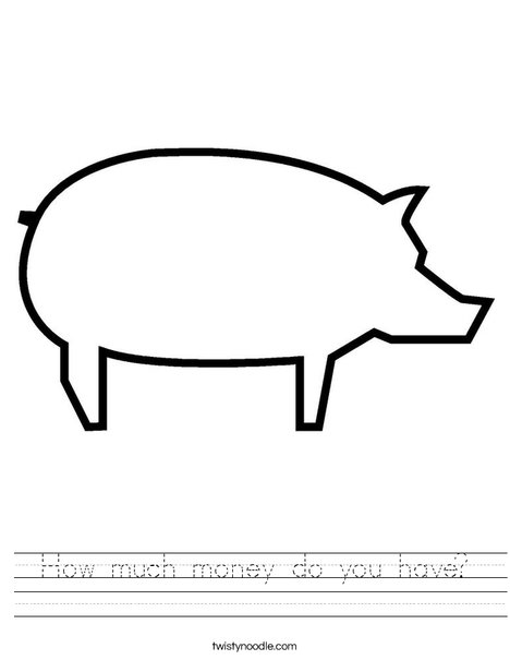 Blank Pig Worksheet