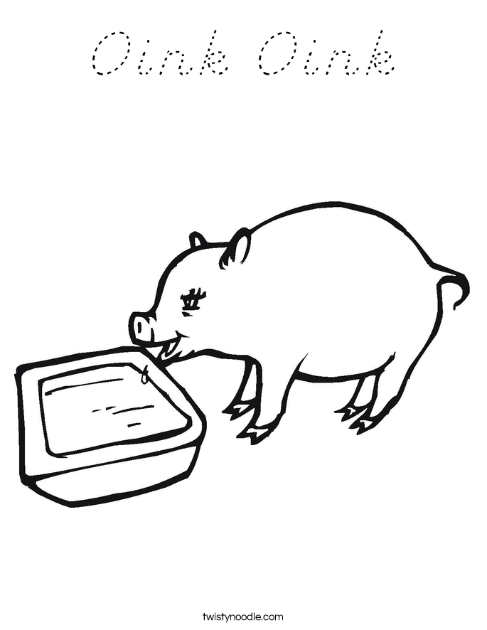 Oink Oink Coloring Page