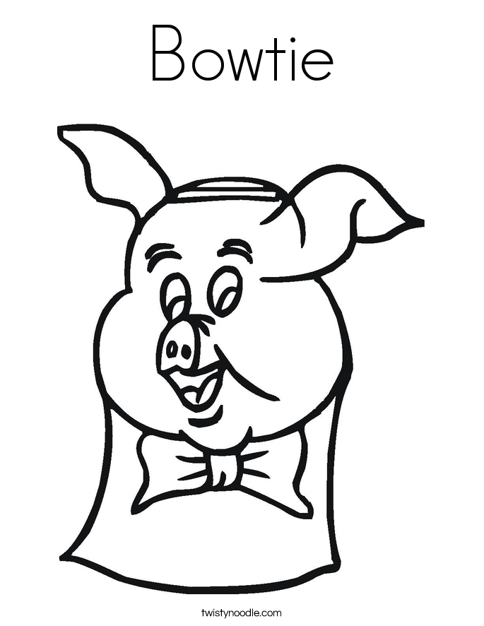 Bowtie Coloring Page