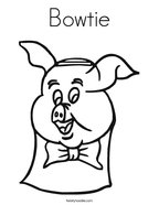 Bowtie Coloring Page