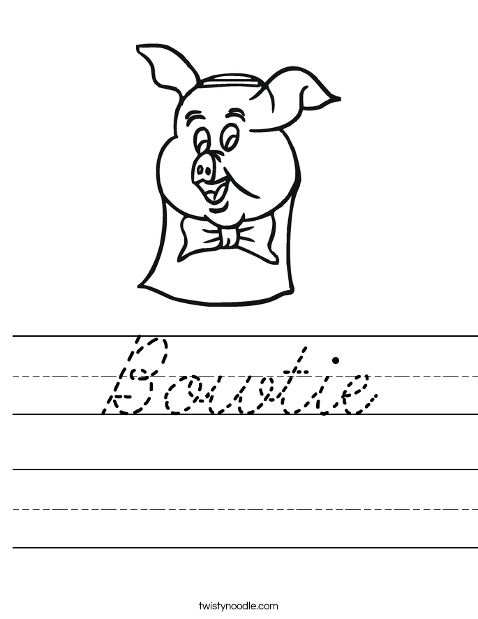 Bowtie Worksheet
